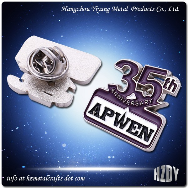 Znic Alloy Badge For Company's 35st Anniversary