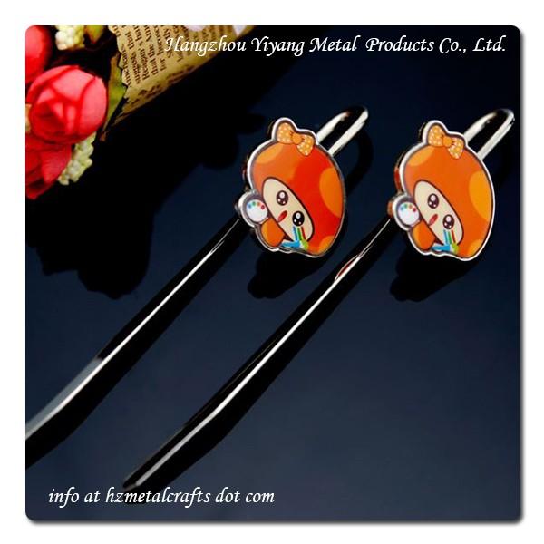 13cm cartoon sticker glue bookmark customization with iron material