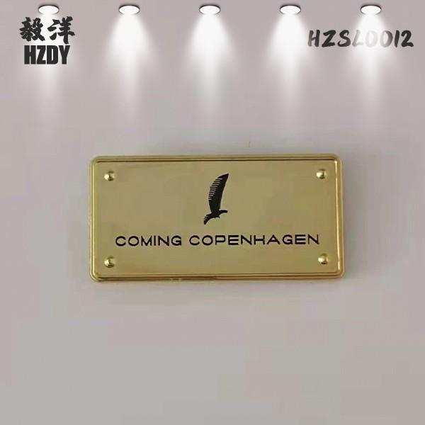 Custom Metal Handbag Letter Name Plates