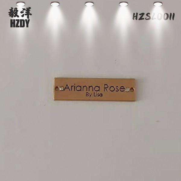 Custom Metal Zinc Alloy Brand Nameplate