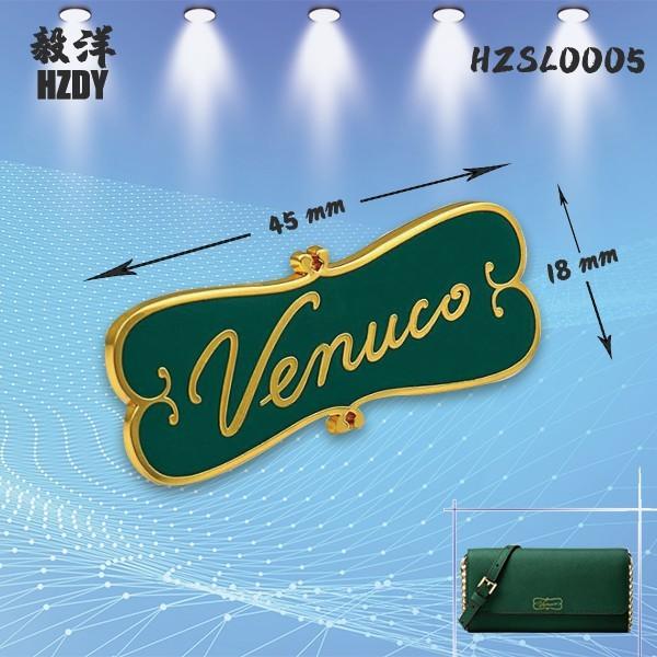 Enamel Oiled Real Gold Electro-galvanized Alloy Label