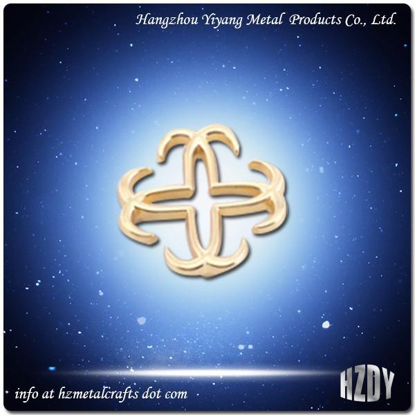 Metal Handbag Logo Customized