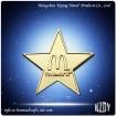 Brone Star Pin Button Badge