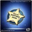 Metal Gold Five Star Badges
